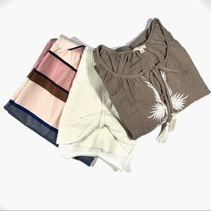 Bundle of Dress and Two Tops Size Large